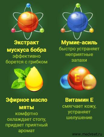 состав мази Новастеп